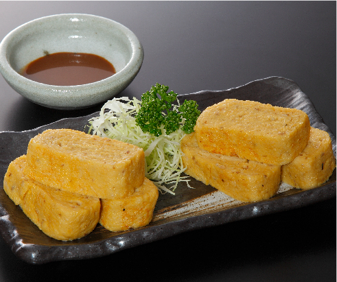 Grilled grated yam with egg